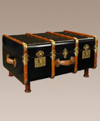 Stateroom Trunk Table ~ Black