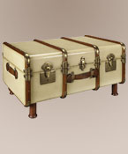Stateroom Trunk Table ~ Ivory