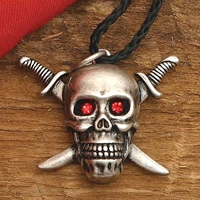 Skull and Crossed Swords Pendant