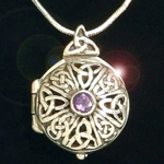 Celtic Keepsake Locket Pendant