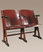 Roxy Theater Love Seat, Red