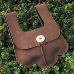 Leather Pouch, Scalloped