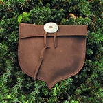 Leather Pouch, Acorn