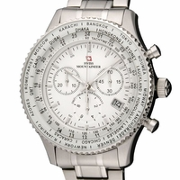Swiss Mountaineer SM1212 Chronograph Watch Steel Bracelet
