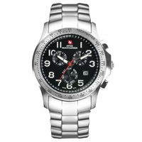 Swiss Mountaineer SM1311 Chronograph Black Dial Bracelet Watch