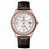 Swiss Mountaineer SM1420 Mens Classic Leather Dress Watch