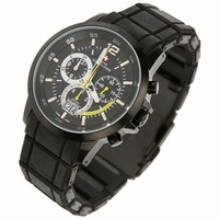 Black Chronograph Watch Swiss Made