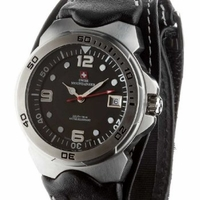 Swiss Mountaineer SM1450 Black Nylon Band Watch
