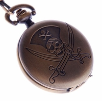 Skull-and-Dagger Pirate Pocket Watch PW52