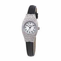 Riana RCW0059 Womens Black Leather Dress Watch