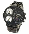 Black Oversized  Automatic Wrist Watch