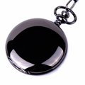 Metallic Black Case Pocket Watch PW23