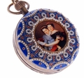 Victorian Antique Art Design With Pearls Pocket Watch PW34