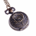 Rose-Flower Pendant Pocket Watch PW60