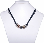Ladies Fashion Necklace with Wire Wrap Beads