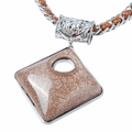 Ladies Fashion Necklace Large Square Drop Pendant