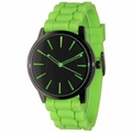 Lime-Black Silicone Band Watch