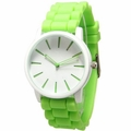 Lime-White Silicone Band Watch