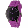 Purple-Black Silicone Watch