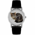 American Shorthair Cat Print Watch in Silver Classic R 0120035
