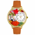 Autumn Leaves Watch in Gold or Silver Unisex G 1213001