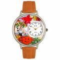 Autumn Leaves Watch in Silver Unisex U 1213001