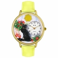 Basking Cat Watch in Gold or Silver Unisex G 0120010