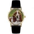 Bassett Hound Print Watch in Gold Classic P 0130078