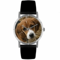 Beagle Print Watch in Silver Classic R 0130007