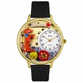 Begging Dog Watch in Gold or Silver Unisex G 0130009
