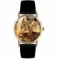 Bengal Cat Print Watch in Gold Classic P 0120043
