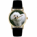 Bichon Print Watch in Gold Classic P 0130010