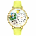 Bird Watching Watch in Gold or Silver Unisex G 0150014