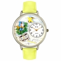 Bird Watching Watch in Silver Unisex U 0150014