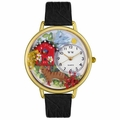 Birdhouse Cat Watch in Gold or Silver Unisex G 0120005