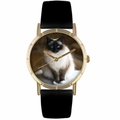 Birman Cat Print Watch in Gold Classic P 0120027