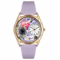 Birthstone Jewelry April Birthstone Watch Classic Gold Style C 0910004