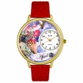 Birthstone Jewelry April Birthstone Watch in Gold or Silver Unisex G 0910004