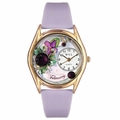 Birthstone Jewelry February Birthstone Watch Classic Gold Style C 0910002