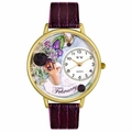 Birthstone Jewelry February Birthstone Watch in Gold or Silver Unisex G 0910002