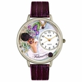 Birthstone Jewelry February Birthstone Watch in Silver Unisex U 0910002