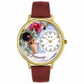 Birthstone Jewelry January Birthstone Watch in Gold or Silver Unisex G 0910001