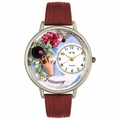 Birthstone Jewelry January Birthstone Watch in Silver Unisex U 0910001