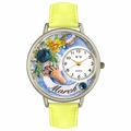 Birthstone Jewelry March Birthstone Watch in Silver Unisex U 0910003