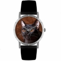 Bombay Cat Print Watch in Silver Classic R 0120037