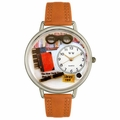 Book Lover Watch in Silver Unisex U 0460001