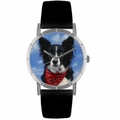 Border Collie Print Watch in Silver Classic R 0130028
