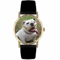Bulldog Print Watch in Gold Classic P 0130018