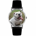 Bulldog Print Watch in Silver Classic R 0130018
