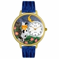 Cats Night Out Watch in Gold or Silver Unisex G 0120009